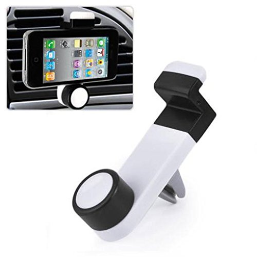 Car Mount AC Air Vent Phone Holder Rotating Cradle Swivel Dock Airvent Stand Strong Hold for Motorola Droid Turbo 2, Moto Z Droid, Force - ZTE Grand X Max 2, X3, X4, Duo LTE, ZMax Pro Z981