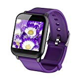 FEDULK Sports Bracelet Waterproof Smart Watch Heart Rate Monitor Healthy Life Wristband for iOS Android(Purple)