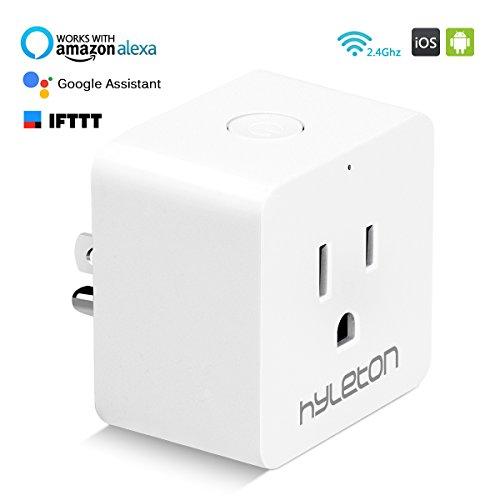 Wifi Smart Plug Hyleton Smart Home Socket 10A Voice Control Household Appliances,Amazon Alexa and Google Assistant (1 Pack) -  43188-189434