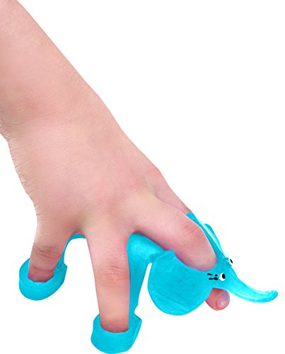 Fine Motor Skill Toy - BLue Walking Elephant - Helping Hands Tool for Five Fingers - Occupational Therapy Toy