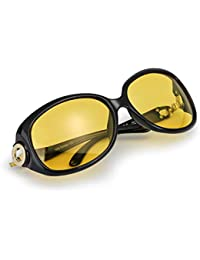 Oversized Night Driving Glasses for Women, Polarized Lens...