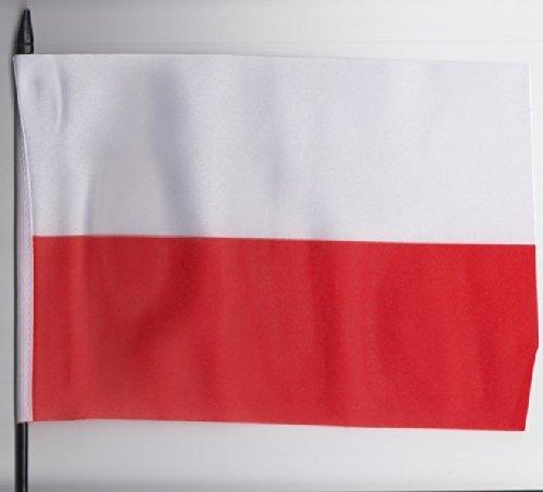 Poland Federal Medium Hand Held Flag 23cm x 15cm