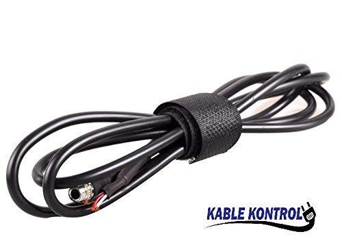 Hook and Loop Cable Wrap, BLACK (3/8'' Width, 25 YARD Long)