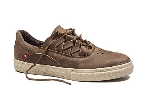 Oliberte Men's Dakugo Saddle Brown Pullup 41/8 Fashion Sneaker by Oliberte