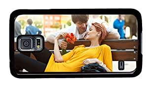 Hipster Samsung Galaxy S5 Case glitter Pretty Love Couple PC Black for Samsung S5