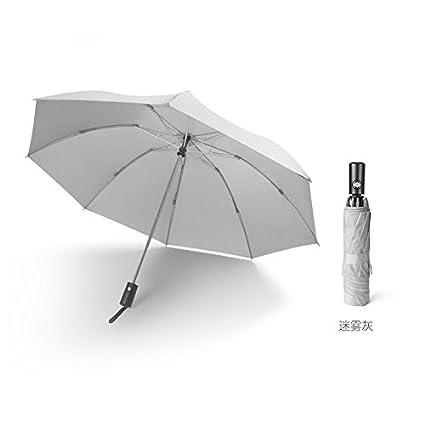 Paraguas reversible automático plegable de lluvia doble negro grande hombres y mujeres resisten molinillos de viento