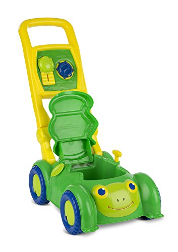 Melissa & Doug Sunny Patch Snappy Turtle Lawn Mower – Pretend Play Toy for Kids