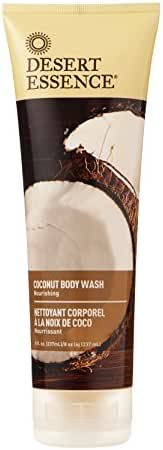 Desert Essence Coconut Body Wash - 8 Fl Oz - Pack of 2 - Nourishing Coconut Oil - Jojoba Oil - Skin Cleanser - Hydrating Organic Body Wash - Vegan - No Gluten & Parabens - Cruelty-Free