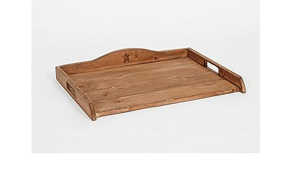 Primitiva rústico país de madera estufa Top decorativo bandeja - Amish fabricado en los Estados Unidos: Amazon.es: Hogar