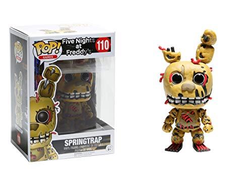 Funko Five Nights at Freddy's - Spring Trap Toy Figure (Glow In The Dark Nightmare Freddy Pop)