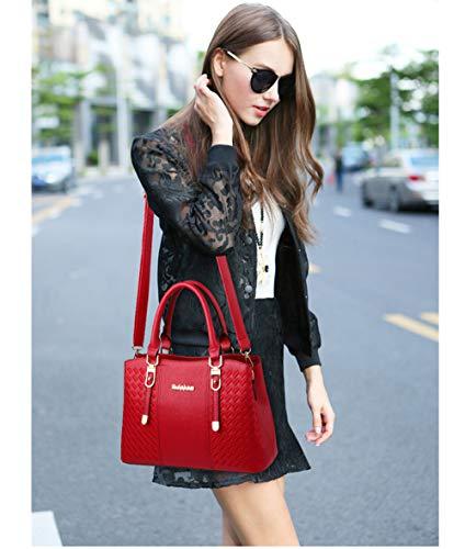 Pelle Borsa Da Donna Moda Tracolla Mano A Purple Viaggio Spalla In Cosmetica Secchiello Per Flht Hdq8qg