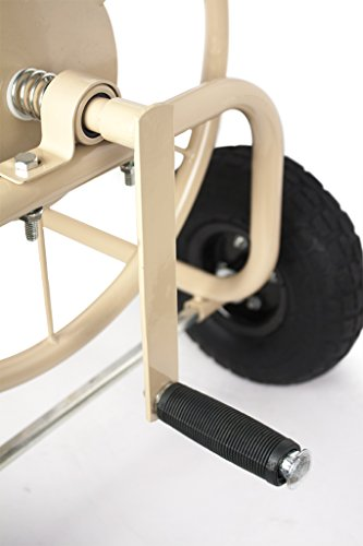 Liberty Garden Products 870-M1-2 Industrial 4-Wheel Garden Hose Reel Cart, Holds 300-Feet of 5/8-Inch Hose - Tan by Liberty Garden Products (Image #2)