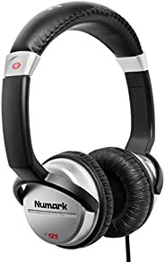 Numark HF125 | Portable Professional DJ Headphones with 6ft Cable, 40mm Drivers for Extended Response & Cl