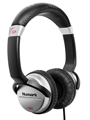 Numark HF125 | Ultra-Portable Professional DJ Headphones With 6ft Cable, 40mm Drivers for Extended Response & Closed Back Design for Superior Isolation (Best Beginner Dj Headphones)