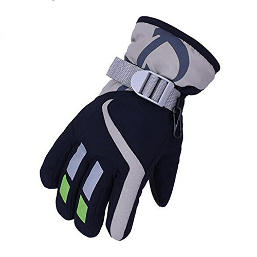 Mounchain Unisex Waterproof Ski Gloves for Kids Riding Skating One Pair of Winter Gloves