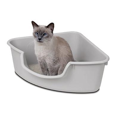 corner cat litter box