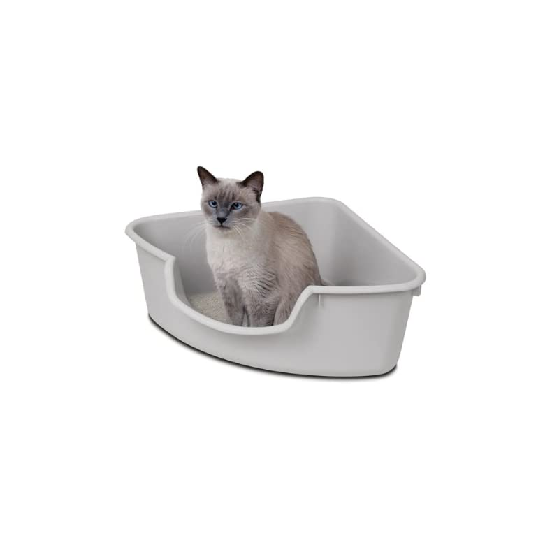 corner cat litter box