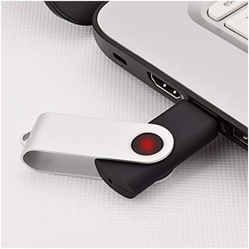 KEXIN 50 Pack 2GB Flash Drive Bulk Memory Stick - Bulk Pack - USB Flash Drive Bulk USB 2.0 Swivel Design Black |
