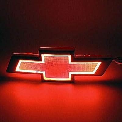 5D LED Car Tail Logo Light Badge Lamp Emblem For Chevrolet Holden Cruze Malibu EPICA CAPTIVA AVEO LOVR Fit for all Chevrolet of cars (red): Automotive