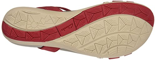 Rosso Donna Clarks 261238974 Sandali red Nubuck wtvxvpEPq