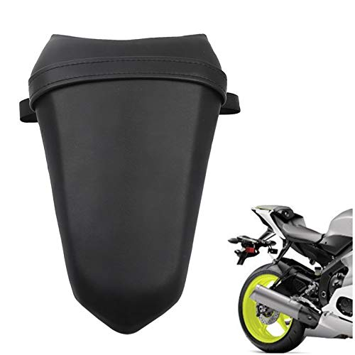 - Star-Trade-Inc - Black Rear Pillion Passenger Seat Saddle Pad Cushion For Yamaha YZF R1 2015-