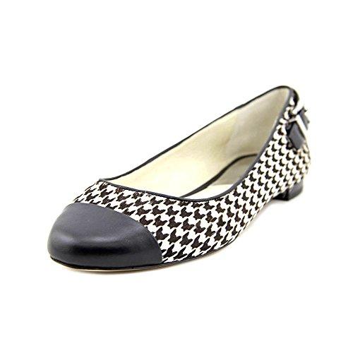 MICHAEL Michael Kors Womens Dion Ballet Flats Shoes Black/White