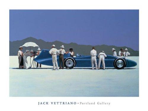 (Bluebird at Bonneville by Jack Vettriano. Size 27.75 X 41.25 Art Poster Print)