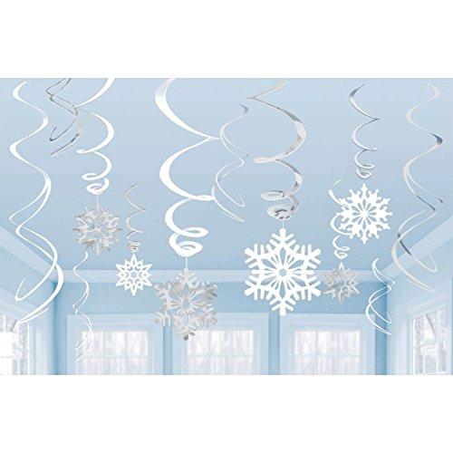 Amscan Snowflake Swirl Decorations 12 Ct