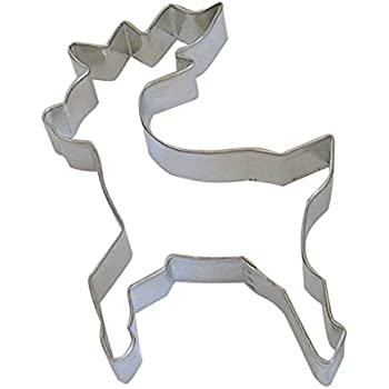 """R&M Reindeer Standing 5"""" Cookie Cutter in Durable, Economical, Tinplated Steel"""