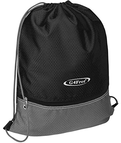 G4Free Drawstring Backpack Cinch Bag String Backpack Gym Bag for Men Women Nylon