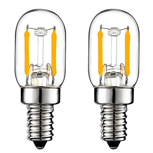 LiteHistory E12 15w Night Light Bulbs 150lm Himalayan Salt lamp Bulb 2700K t22 t7 led Bulb 2Pack