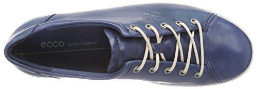 Ecco ECCO SOFT 2.0 - zapatos con cordones de cuero mujer Azul (DENIM BLUE1086)