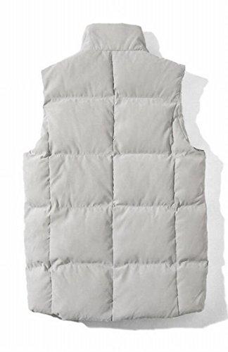 Men's Ultralight Gery Down Jacket Zipper Packable Down Coat amp;S Fashion Puffer Vest amp;W M Waistcoat 1qwAxUI