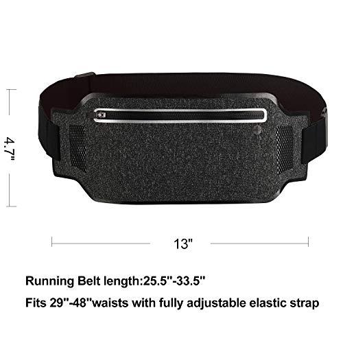 3be426951146 ALACHI USA Running Belt Slim, Women Men Sports Running Waist Fanny ...