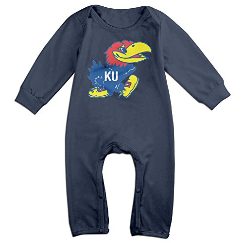 Price comparison product image OOKOO Baby's University Of Kansas Jayhawk Logo Bodysuits Outfits Navy 6 M