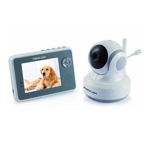 """Foscam FBM3501 Wireless Digital Video Baby Monitor - Pan/Tilt, Nightvision and Two-Way Audio with 3.5"""" LCD"""