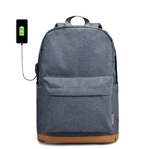 Men's 15 inch Laptop Backpack USB Charging Backpacks School Black male Casual Bag Rucksacks For Teenage Gray USB