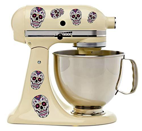 Sugar Skull Dios De Los Muertos Bakery Kitchen Mixer Mixing Machine Decal Art Wrap ()