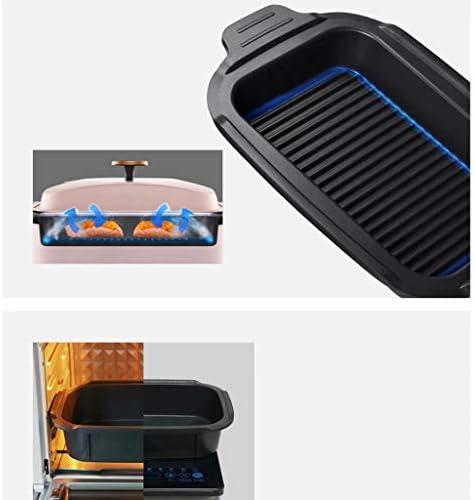 BBQ Elektroherd Multifunktions-Haushalts-Elektro-Bratpfanne Hot Pot Barbecue Integrierter Topf Viergang-Verstellung Doppeltemperaturregelung