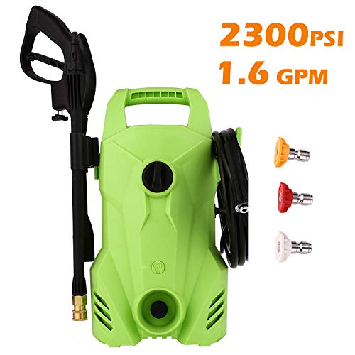 Homdox 2300 PSI Pressure Washer 1.6 GPM Power Washer with 3 Nozzles