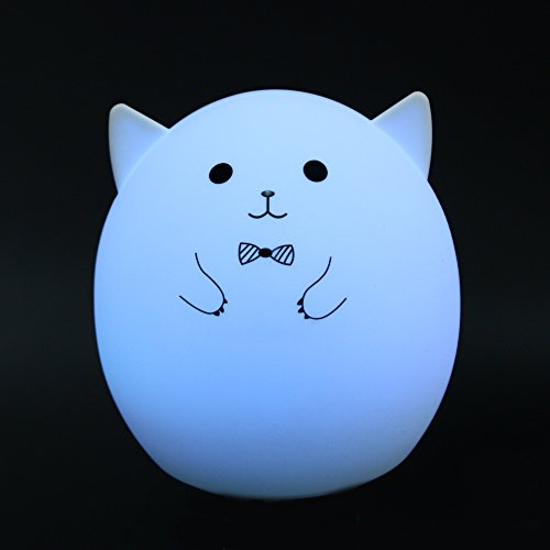 MKChung Mini LED Night Light, Cute Animal Shape Silicone Decompression Lamp for Student Kid Gift (Colorful)(Style 1) by MKChung (Image #7)