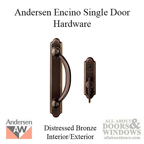 Andersen Encino 2-Panel Gliding Patio Door Hardware Set in Distressed Bronze