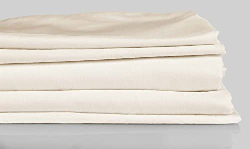 Dream House sábana (150 x 260 cm Beige sábana bajera cama fundas 100% algodón: Amazon.es: Hogar