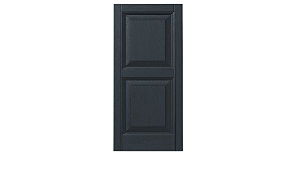 Black 12 Ply Gem Shutters and Accents VINRP1255 33 Raised Panel