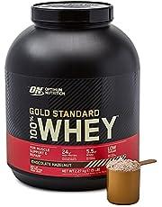 Optimum Nutrition ON guld standard vassleproteinpulver, proteinpulver muskeluppbyggnad med glutamin och aminosyror, naturligt innesluten BCAA