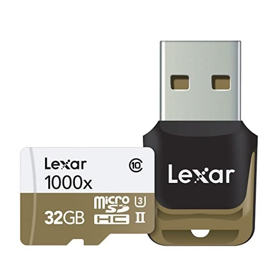 Lexar Professional 1000x 64GB microSDXC UHS-II Card (LSDMI64GCBNA1000A) 3 High-speed performance-leverages UHS-II technology (U3) for a read transfer Speed up to 150MB/s (1000x) Premium memory solution for sports camcorders, tablets, and smartphones Designed for high-speed capture of high-quality images and extended lengths of 1080P full-HD, 3D, and 4K video