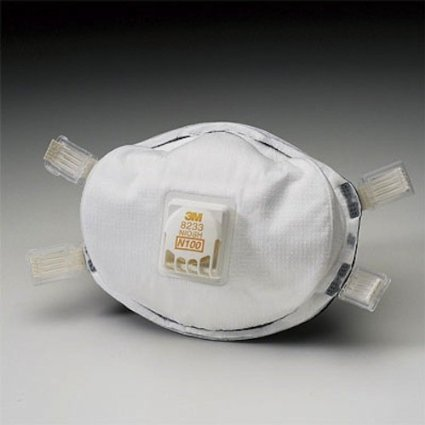 3M 8233 N100 Disposable Respirator With Cool Flow Exhalation Valve (CASE OF 10) by 3M