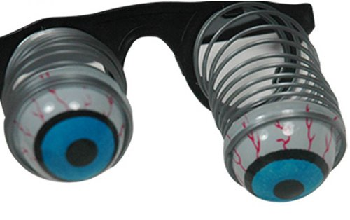 YOYOSTORE Horror Shock Pop Eyes Spring Eyeball Eyeglass Toy Halloween Funny Party Tricky Toy -