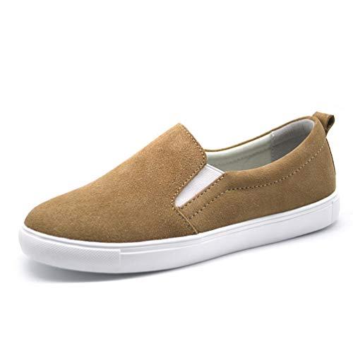 Femal Sneakers Flats Shoes Donne Autunno camoscio Albicocca Scamosciata Casual Pelle Scarpe Oq4Zq7Y