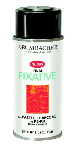 Grumbacher Final Fixative Gloss Spray, 11-3/4-Ounce Can, #543 by Grumbacher